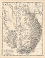 Australia & Oceania and Australia Map By W. & A.K. Johnston