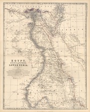 Asia, Middle East, Africa and North Africa Map By W. & A.K. Johnston