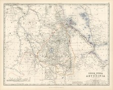 Africa, North Africa and East Africa Map By W. & A.K. Johnston