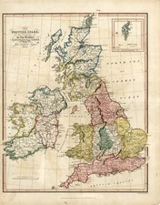 Europe and British Isles Map By Jehoshaphat Aspin