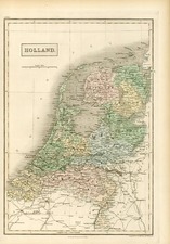 Europe and Netherlands Map By Adam & Charles Black