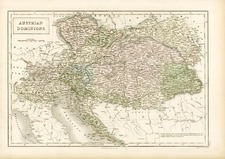 Europe, Austria, Hungary and Balkans Map By Adam & Charles Black