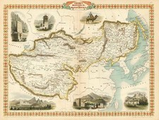Asia, China, India, Central Asia & Caucasus and Russia in Asia Map By John Tallis