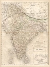 Asia and India Map By Adam & Charles Black