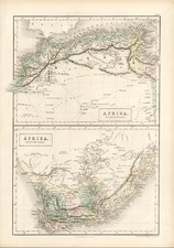 Africa and Africa Map By Adam & Charles Black