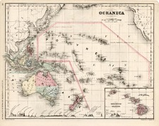 Hawaii, Australia & Oceania, Oceania and Hawaii Map By William McNally
