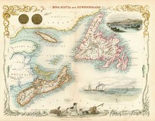 Canada Map By John Tallis