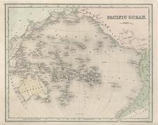 World, Australia & Oceania, Pacific and Oceania Map By Thomas Gamaliel Bradford  &  Goodrich