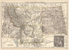 Plains and Rocky Mountains Map By W. & A.K. Johnston