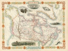World, Polar Maps, Alaska and Canada Map By John Tallis