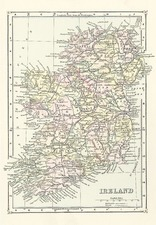 Europe and British Isles Map By J. Bartholomew
