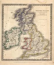 Europe and British Isles Map By David Hugh Burr