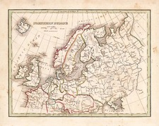 Europe and Europe Map By Thomas Gamaliel Bradford