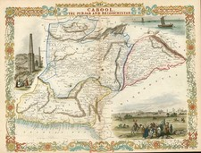 Asia, India, Central Asia & Caucasus and Middle East Map By John Tallis