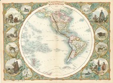 World, World, Western Hemisphere, South America and America Map By John Tallis