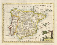 Europe, Spain and Portugal Map By Thomas Kitchin
