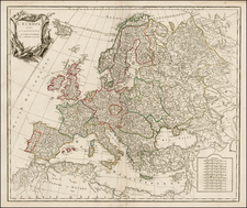Europe and Europe Map By Didier Robert de Vaugondy