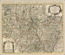 Europe and France Map By Johannes Covens  &  Cornelis Mortier
