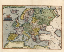 Europe and Europe Map By Abraham Ortelius