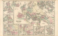 World, World, Europe, Europe, Italy and Mediterranean Map By G.W.  & C.B. Colton