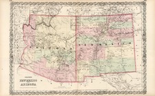 Southwest and California Map By G.W.  & C.B. Colton