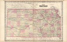 Plains Map By G.W.  & C.B. Colton