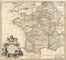 Europe and France Map By John Senex