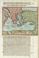 Europe, Greece, Mediterranean, Asia and Holy Land Map By Jodocus Hondius / Samuel Purchas