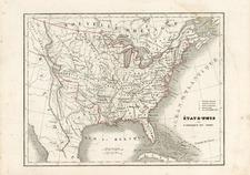 United States Map By Charles V. Monin