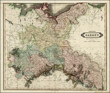 Germany, Poland and Baltic Countries Map By Daniel Lizars