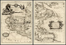 North America and California Map By Vincenzo Maria Coronelli
