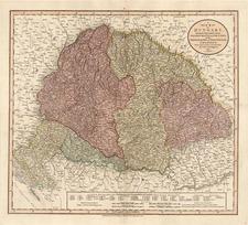 Europe, Hungary, Romania, Czech Republic & Slovakia and Balkans Map By John Cary