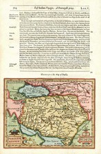 Central Asia & Caucasus and Middle East Map By Jodocus Hondius