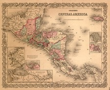 Central America Map By G.W.  & C.B. Colton
