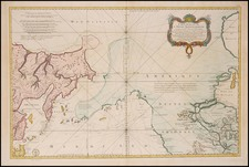 World, Midwest, Alaska and Pacific Map By Jacques Nicolas Bellin