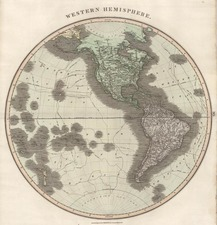 World, Western Hemisphere, South America, Pacific and America Map By John Thomson