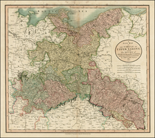 Germany, Poland and Baltic Countries Map By John Cary
