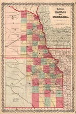 Plains Map By Joseph Hutchins Colton