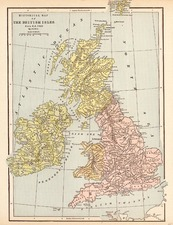Europe and British Isles Map By George F. Cram