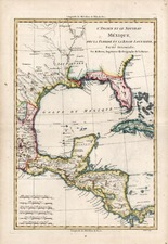 Southeast, Texas, Caribbean and Central America Map By Rigobert Bonne
