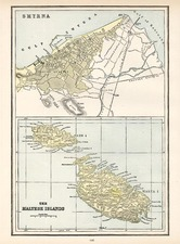 Europe, Turkey, Mediterranean and Balearic Islands Map By George F. Cram