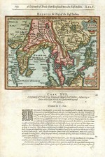 Asia, India, Southeast Asia and Central Asia & Caucasus Map By Jodocus Hondius / Samuel Purchas