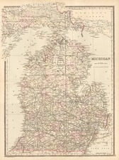 Midwest Map By William Bradley & Bros.