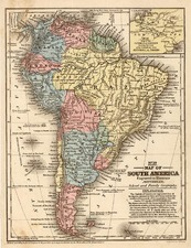 South America Map By Samuel Augustus Mitchell