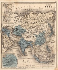 Asia and Asia Map By Samuel Augustus Mitchell