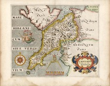 Europe and British Isles Map By William Hole / Christopher Saxton