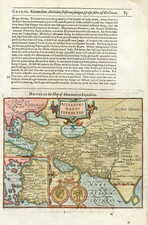 World, World, Asia, India, Central Asia & Caucasus and Middle East Map By Jodocus Hondius / Samuel Purchas