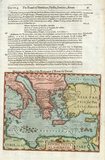 Europe, Greece, Mediterranean, Balearic Islands and Africa Map By Jodocus Hondius / Samuel Purchas