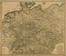 Germany, Poland, Hungary and Baltic Countries Map By Jean André Dezauche