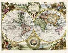 World and World Map By Pieter van der Aa